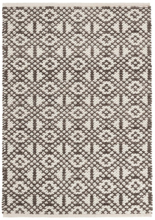 Hopscotch Grey Woven Wool Rug The Outlet In 2020 Wool Rug