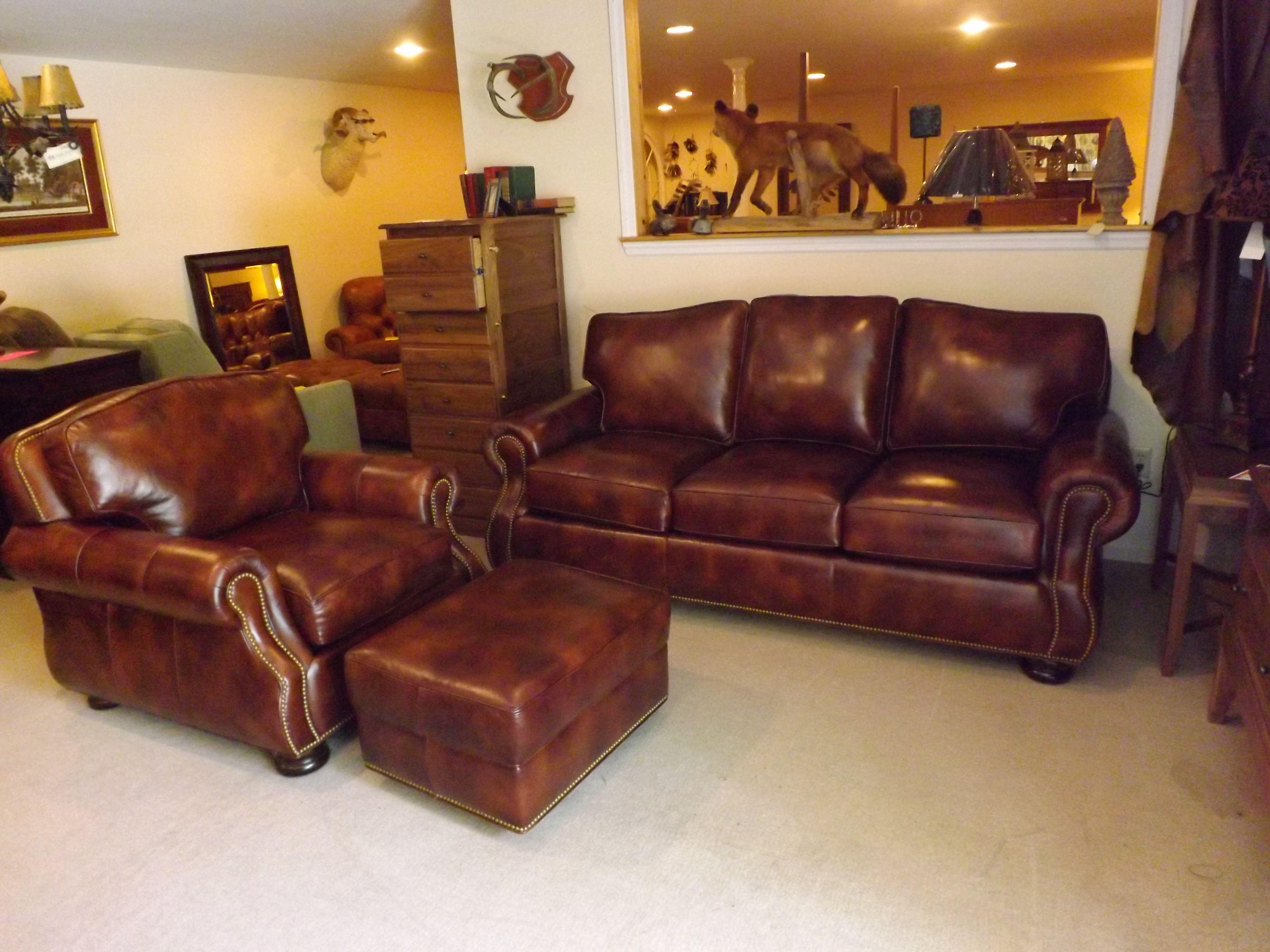 Hancock And Moore: September Sofa, Chair, And Ottoman, Full Grain Leather  Sofa