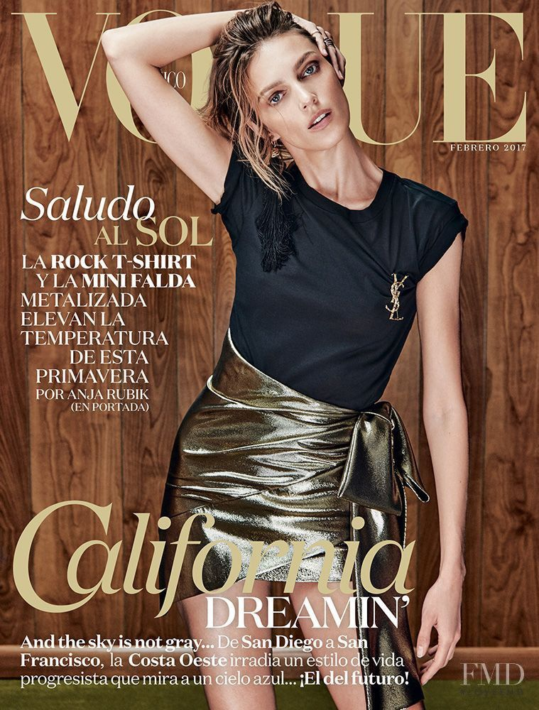 Cover of Vogue Mexico with Anja Rubik, February 2017 (ID:41266)| Magazines | The FMD #lovefmd