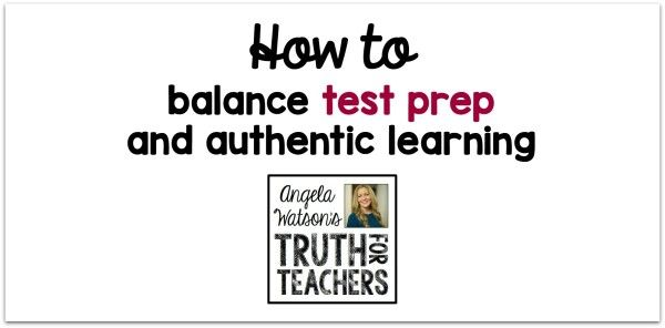 EP19: You're a teacher, not a tester. In this episode, you'll learn strategies for staying focused on what's really important, both in your mindset and your daily practice. Discover specific, practical tips for getting creative with test prep so it feels more like the authentic learning activities that matter most. This post is based on…