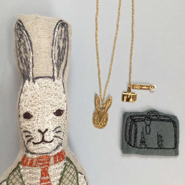 Coral & Tusk - Titlee Collaboration - Rabbit Necklace - Titlee and Coral & Tusk