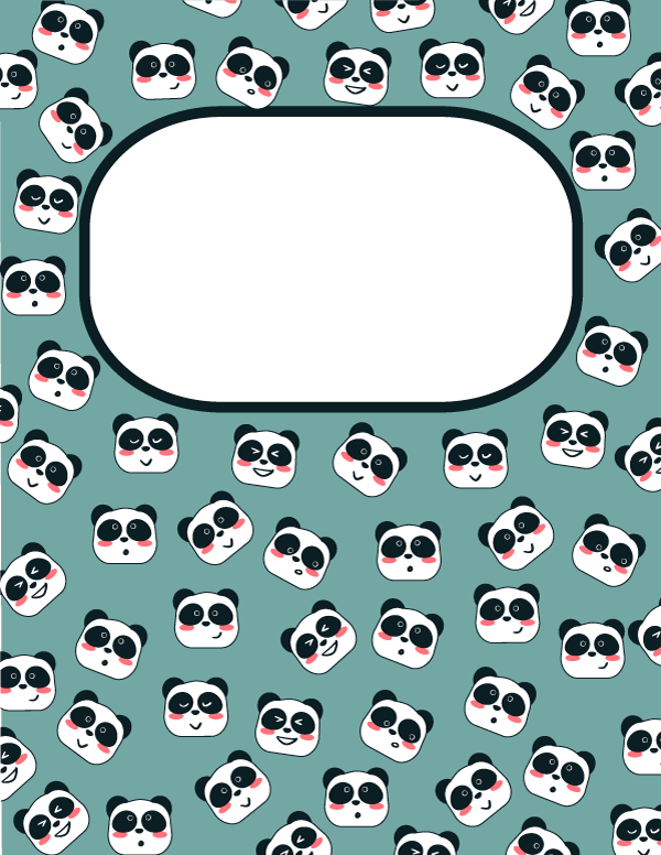 Free Printable Panda Binder Cover Template Download The Cover In