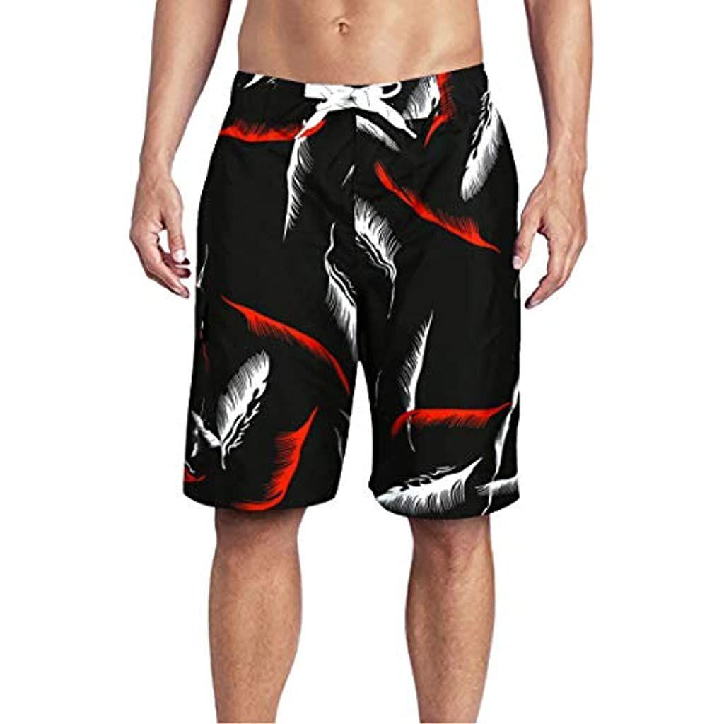 Bmeigo Uomo Pantaloncini e Calzoncini da Bagno Costume da Bagno Asciugatura Rapida Coulisse Nuotata Corta Hawaii Aloha Pantaloncini da Surf Beach Vacanza
