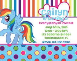 My Little Pony Rainbow Dash Inspired Printable Birthday Invitation
