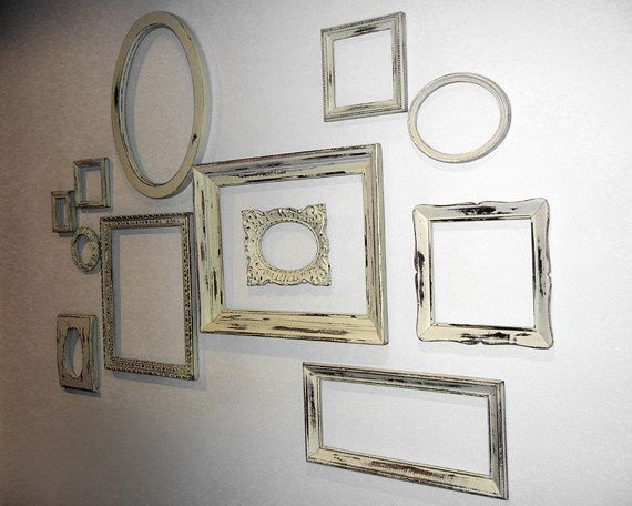 12 Mixed FRAMES - Large Complete Shabby Chic Gallery Wall Ready to ...