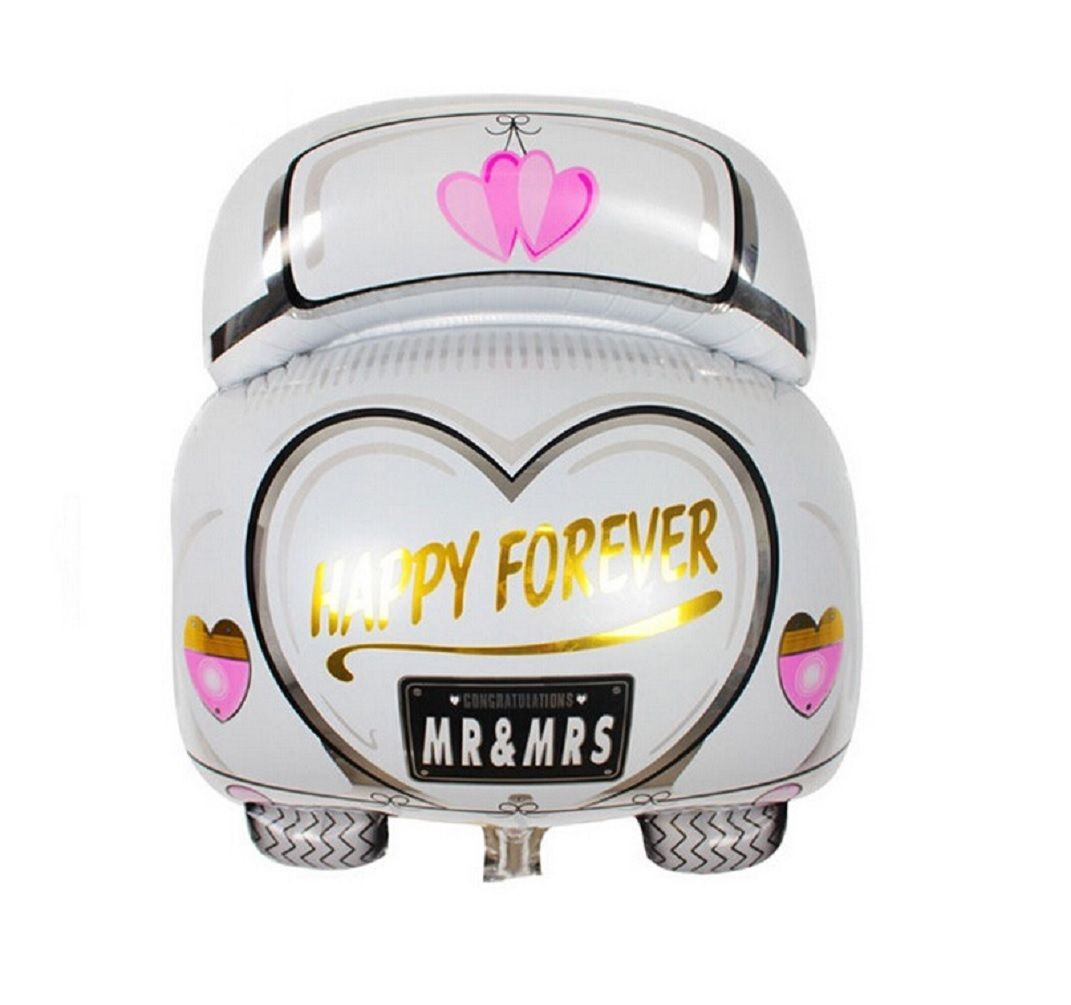 Wedding car decorations just married   GBP  White Just Married Wedding Car Foil Balloon Decorations