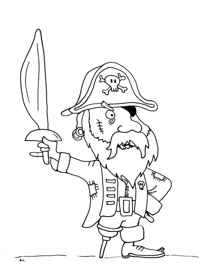 coloriage pirate jambe bois