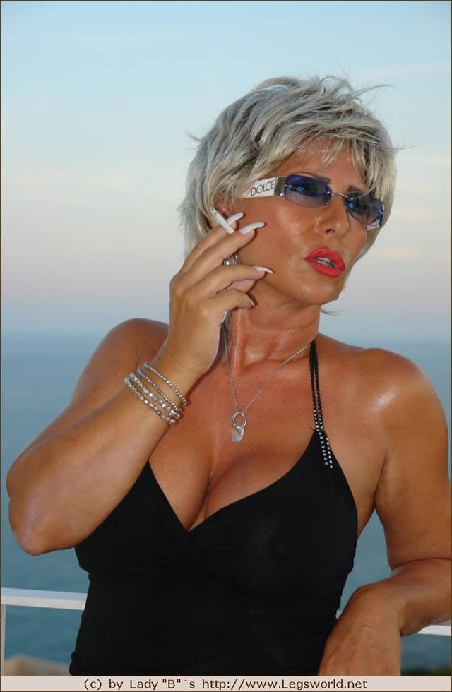 Fat mature women smoking