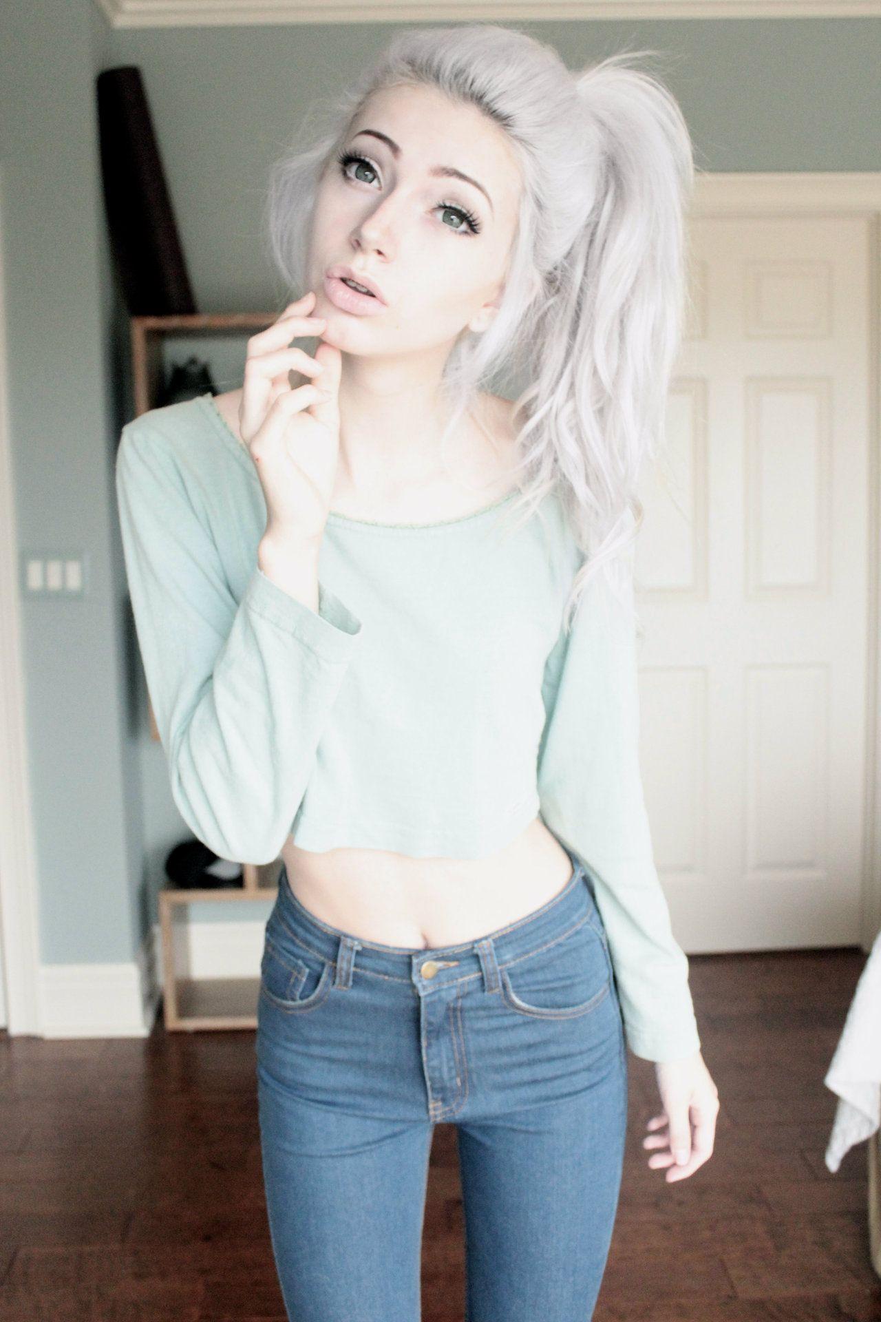 Girls dyed hair fucking