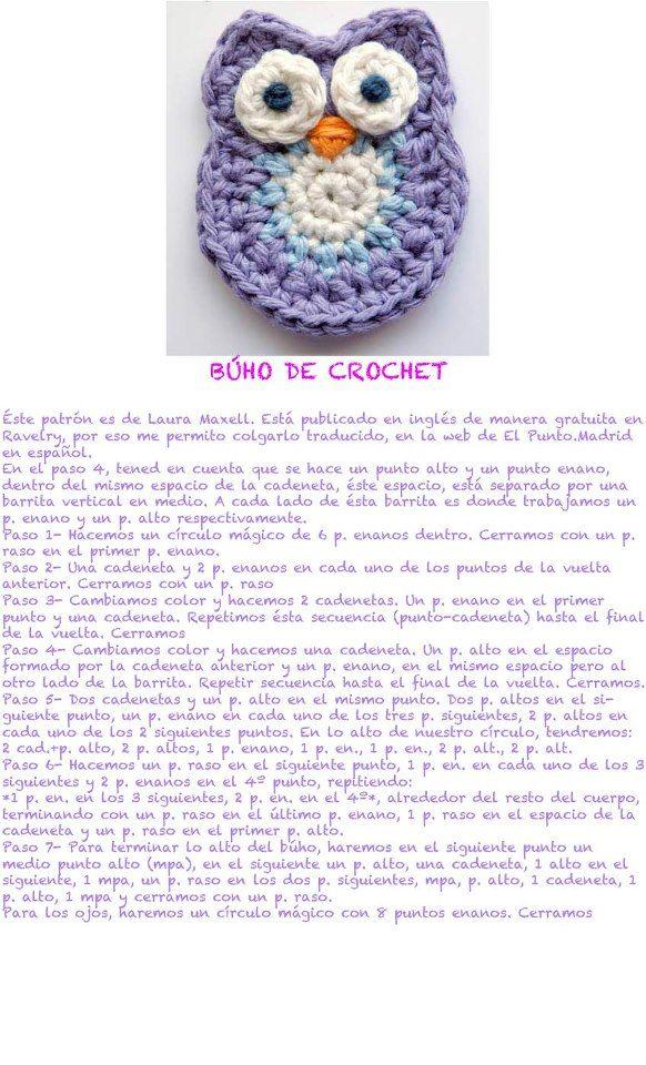buho_de_crochet | buho | Pinterest | Ganchillo, Patrones y Patrón de ...