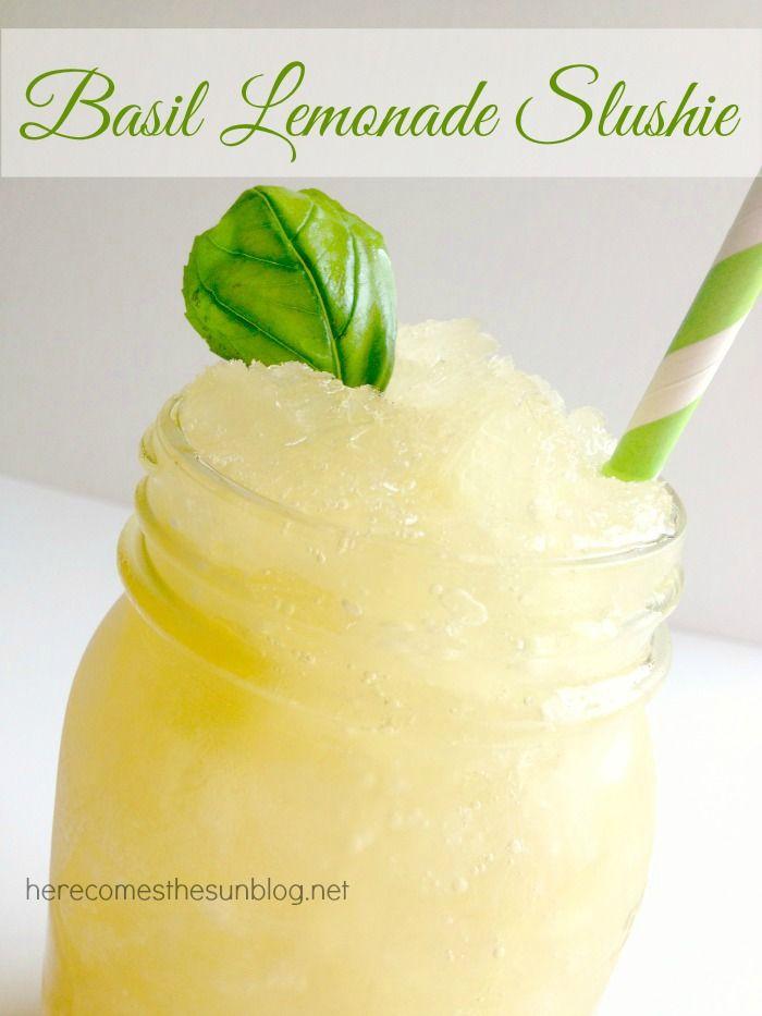 Basil Lemonade Slushie #basillemonade