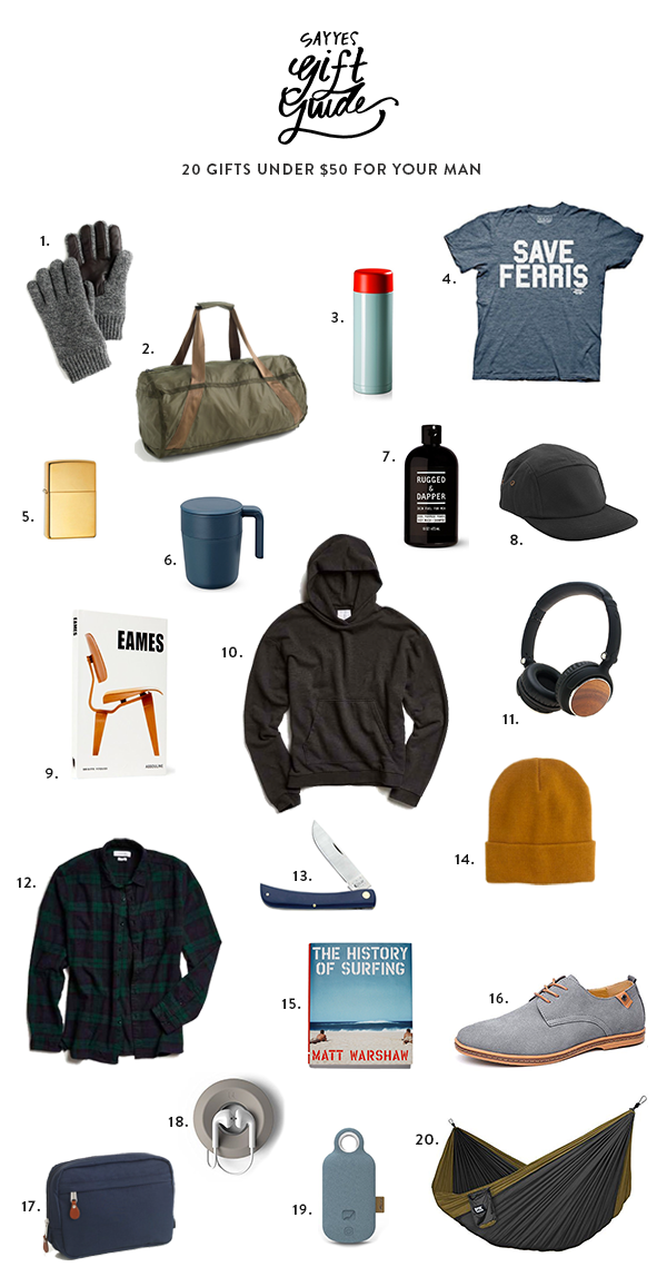 20 Gifts Under 50 For Your Man Graduation Him Birthday Gift