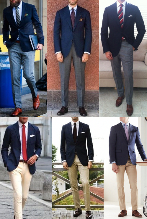 What To Wear With A Navy Blazer The Art Of Manliness Suitcombinationsmen Blue Jackets Outfits Blue Blazer Outfit Blue Blazer Outfit Men