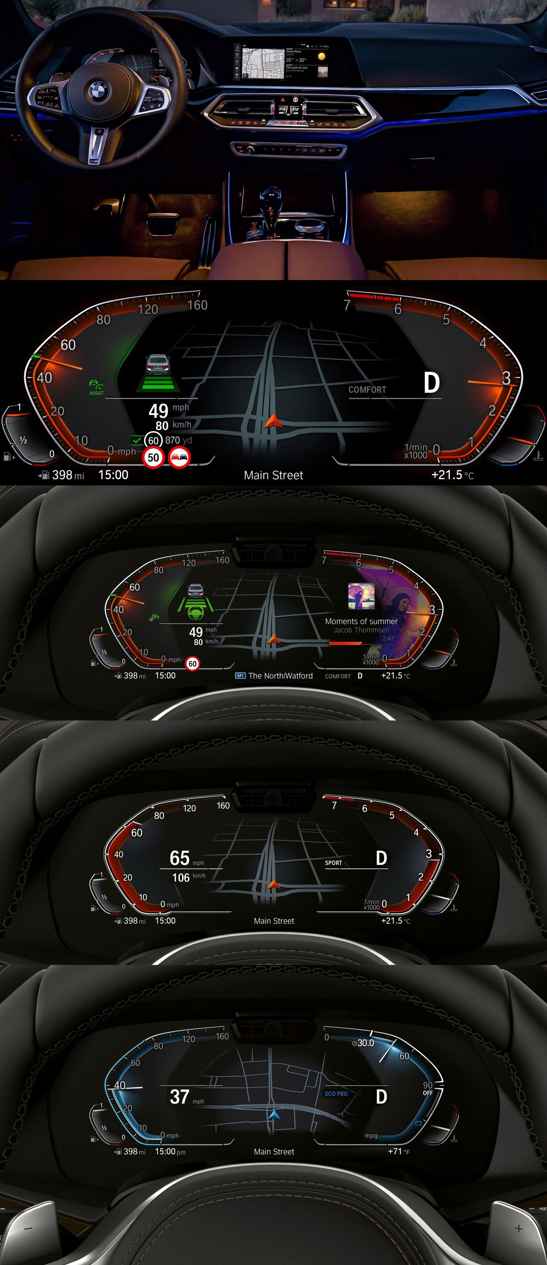 BMW // digital cockpit // 2018 UX / UI Design Car HMI