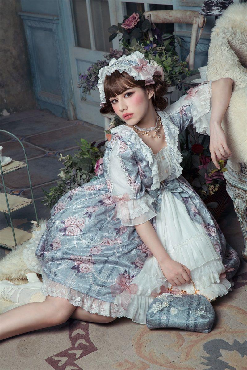 Le Miroir -The Fragrant Flower Wall- Classic Lolita OP Dress ...
