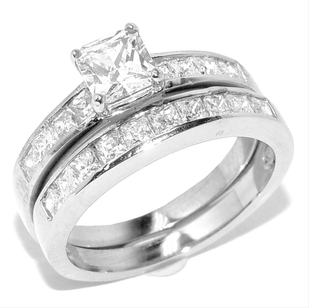 Fancy  Princess Cut Diamond Wedding Ring Sets Princess Cut Wedding Rings Best Free Home Design Idea u Inspiration