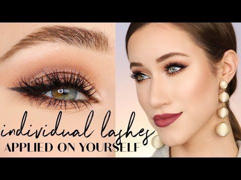 cad69dfc36c 80) How to Apply Individual False Lashes | ALLIE GLINES - YouTube ...