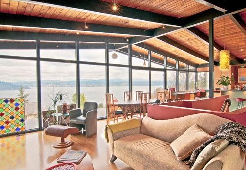 Local Seattle home, modern living room by Louise Lakier