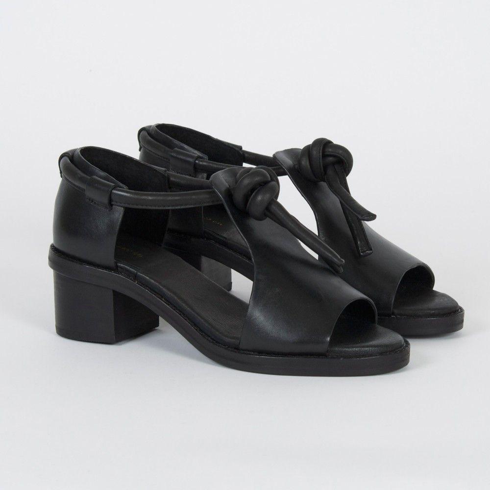 Ayaka Mid Heel Black - Shoes - SHOP
