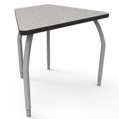 WB Manufacturing Elo Laminate Adjustable Height Collaborative Desk Desk Finish: Gray Nebula, Frame Finish: Silver