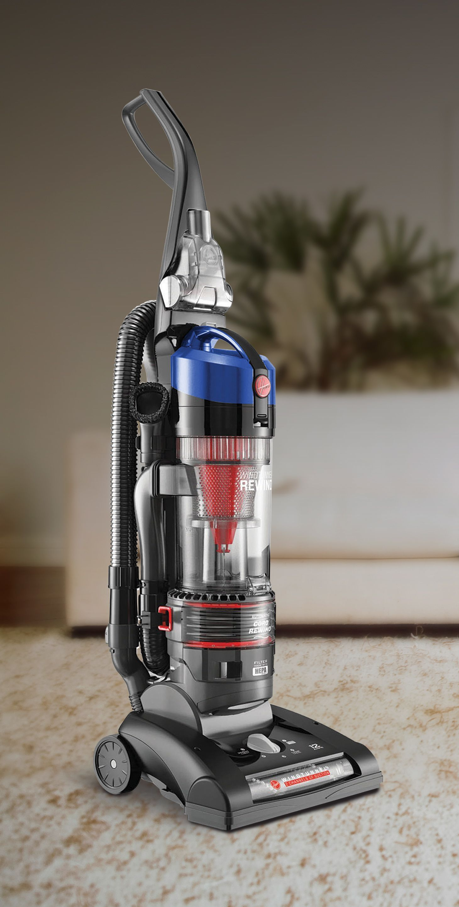 Cleaning Carpet Doesn T Have To Be Stressful With A Hoover Windtunnel 2 Rewind Bagless Upright Va Upright Vacuums Cordless Vacuum Cleaner How To Clean Carpet