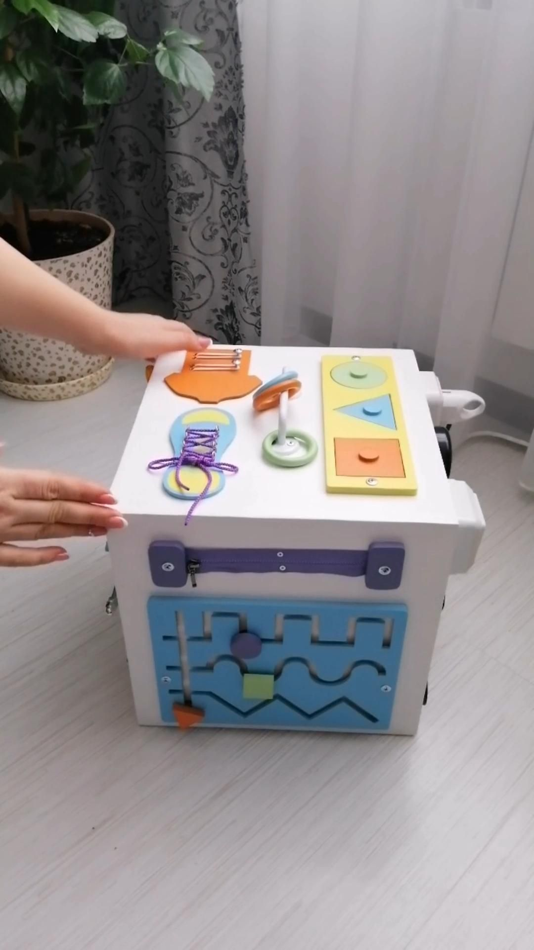 Toddler Busy board, Montessori Busy cube, Busy box, Educational toddler toy, Busy board 1 year old -   19 diy Gifts for children ideas