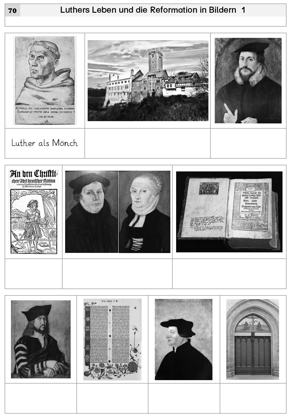 aus der materialsammlung zum thema martin luther und die reformation religionsunterricht. Black Bedroom Furniture Sets. Home Design Ideas