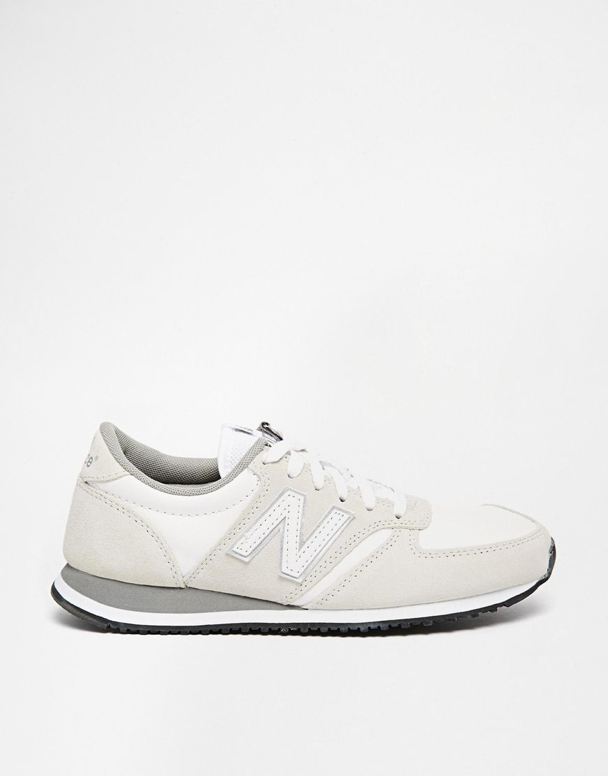 new balance - 420 - baskets en daim - beige
