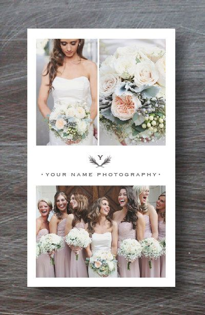 Instant download vertical business card template for for Templates for wedding photographers