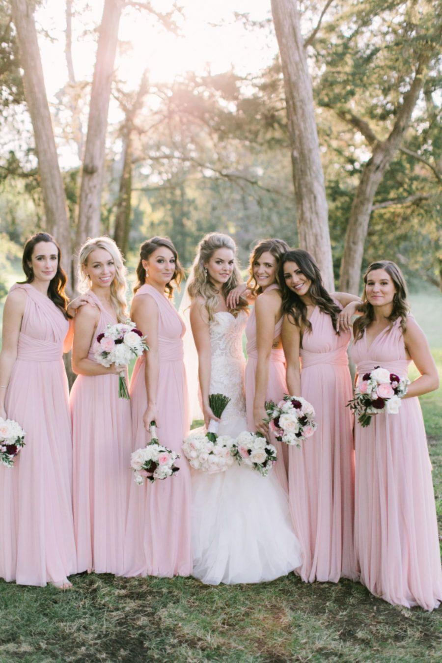 Nikki ferrells beautiful bridesmaids looked gorgeous in our petal nikki ferrells beautiful bridesmaids looked gorgeous in our petal tulle ballgown twobirds bridesmaid multiway ombrellifo Images