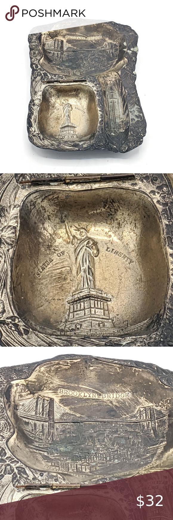 New York City Souvenir Ashtray Metal Vintage Vintage Metal Souvenir Ashtray with...#ashtray #city #metal #souvenir #vintage #york