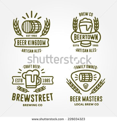 Set of vintage monochrome badge, logo templates and design - label design templates