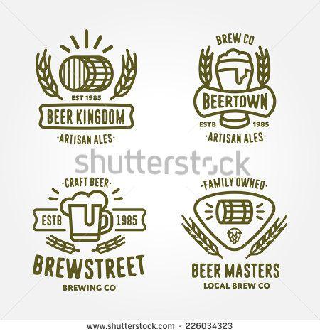 Set of vintage monochrome badge, logo templates and design - label design templates