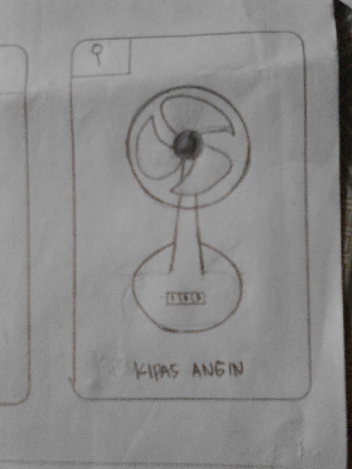 Hasil gambar untuk menggambar kipas angin Kipas, Gambar