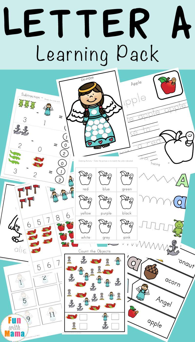 Letter A Preschool Printable Pack | Homeschool worksheets, Printable ...