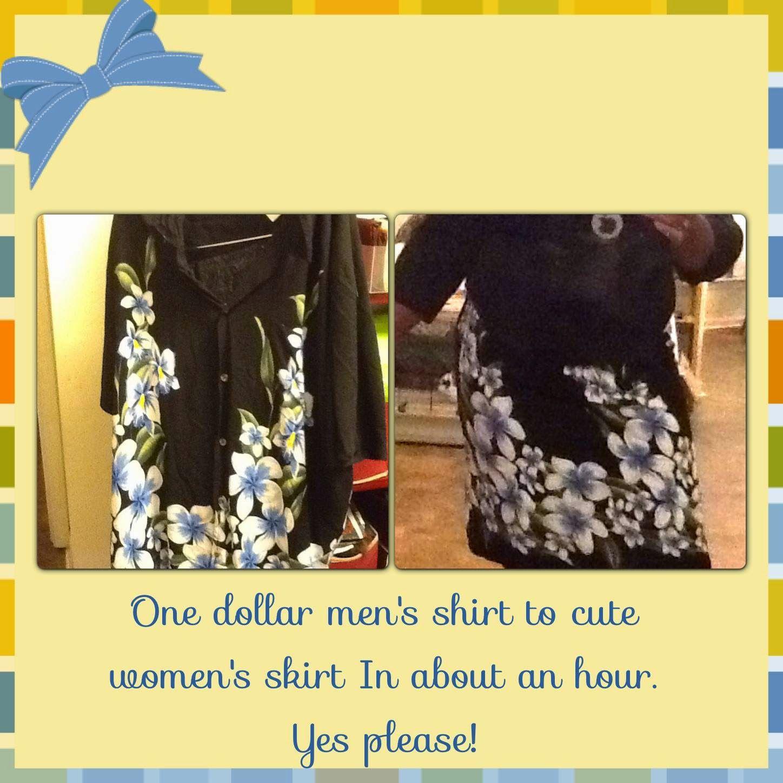Refashion Co-op: Men's Shirt to Cute Skirt - Easy