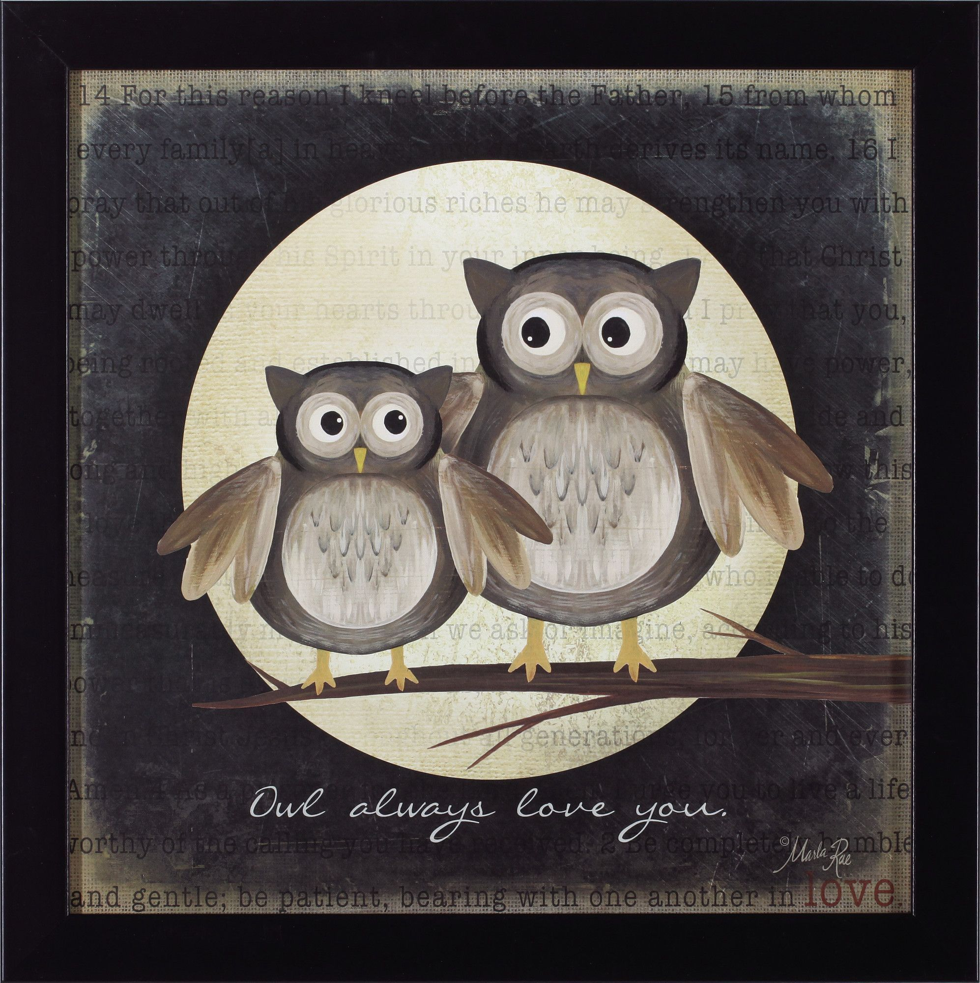 Owl Always Love You by Marla Rae Framed Graphic Art | Products ...