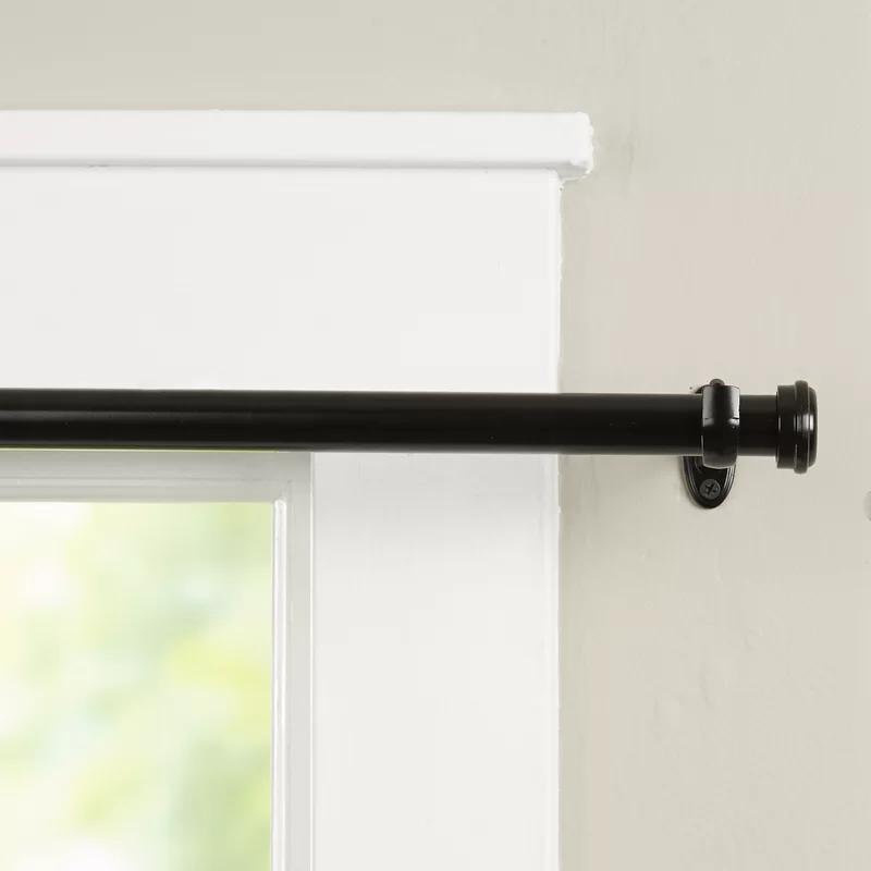 Basics End Cap Single Curtain Rod Hardware Set Curtain Rod