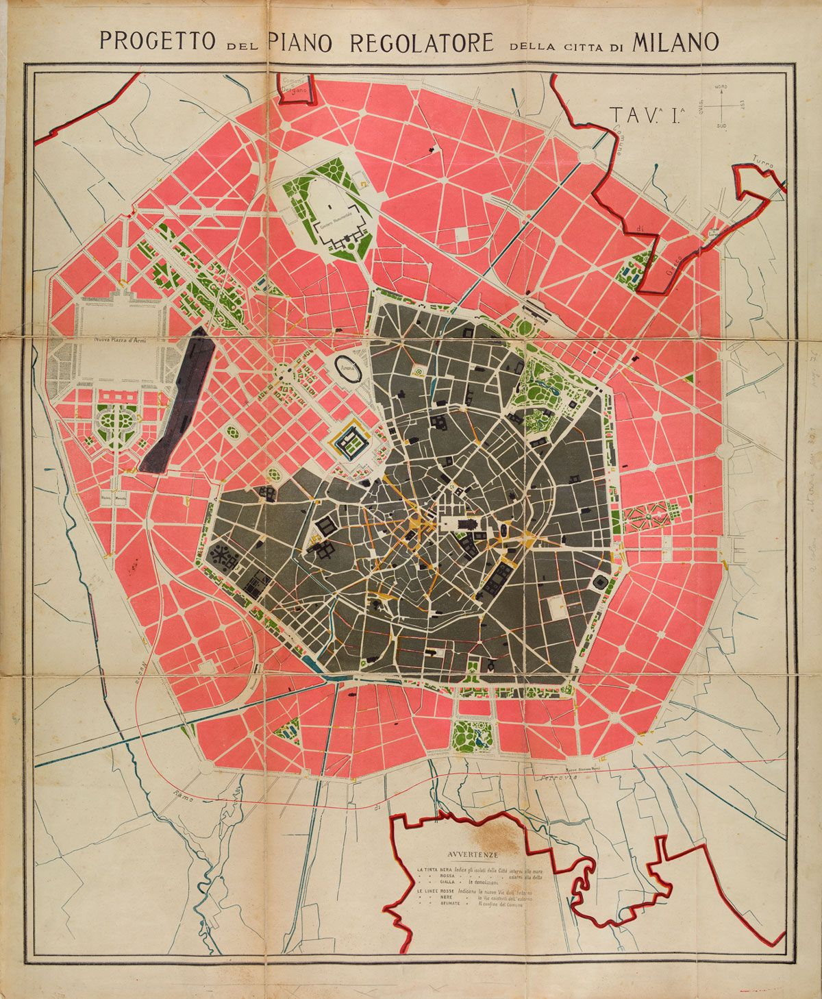 Urban projects map of milan 1884 inspiration maps city maps gumiabroncs Image collections