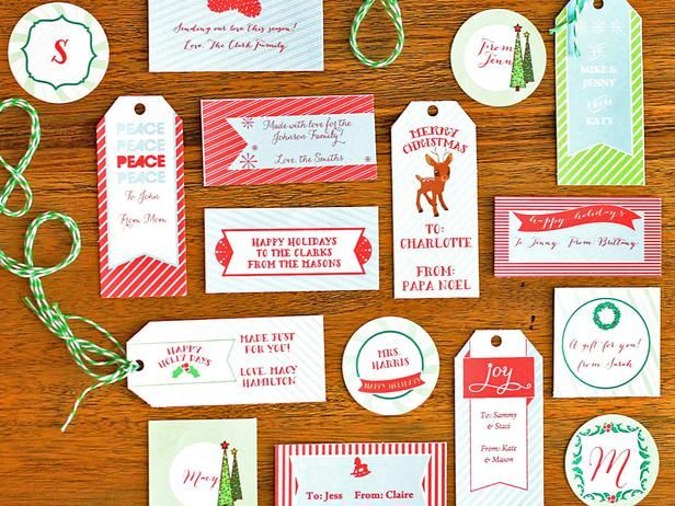 How To Make Customizable Holiday Gift Tags Holiday Favorites