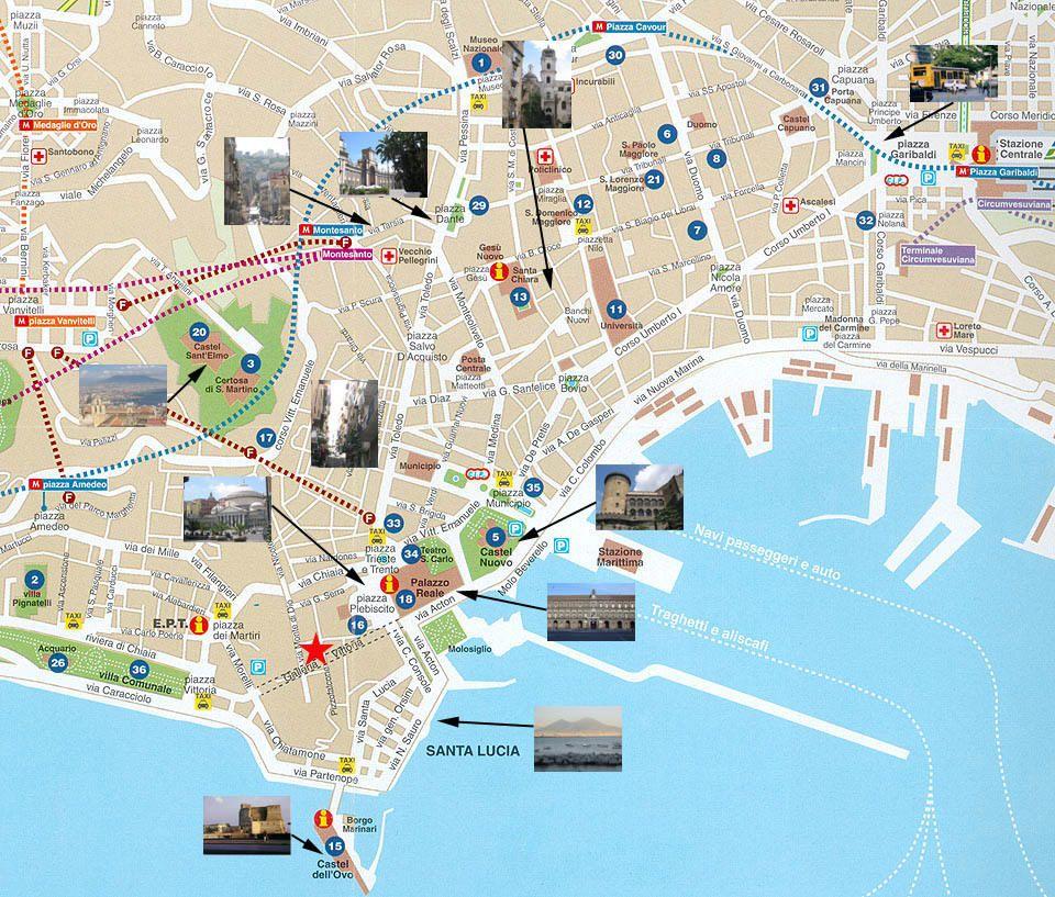 Cartina Monumenti Napoli.Mappa Napoli Cartina Di Napoli Napoli Napoli Italia Il Turista