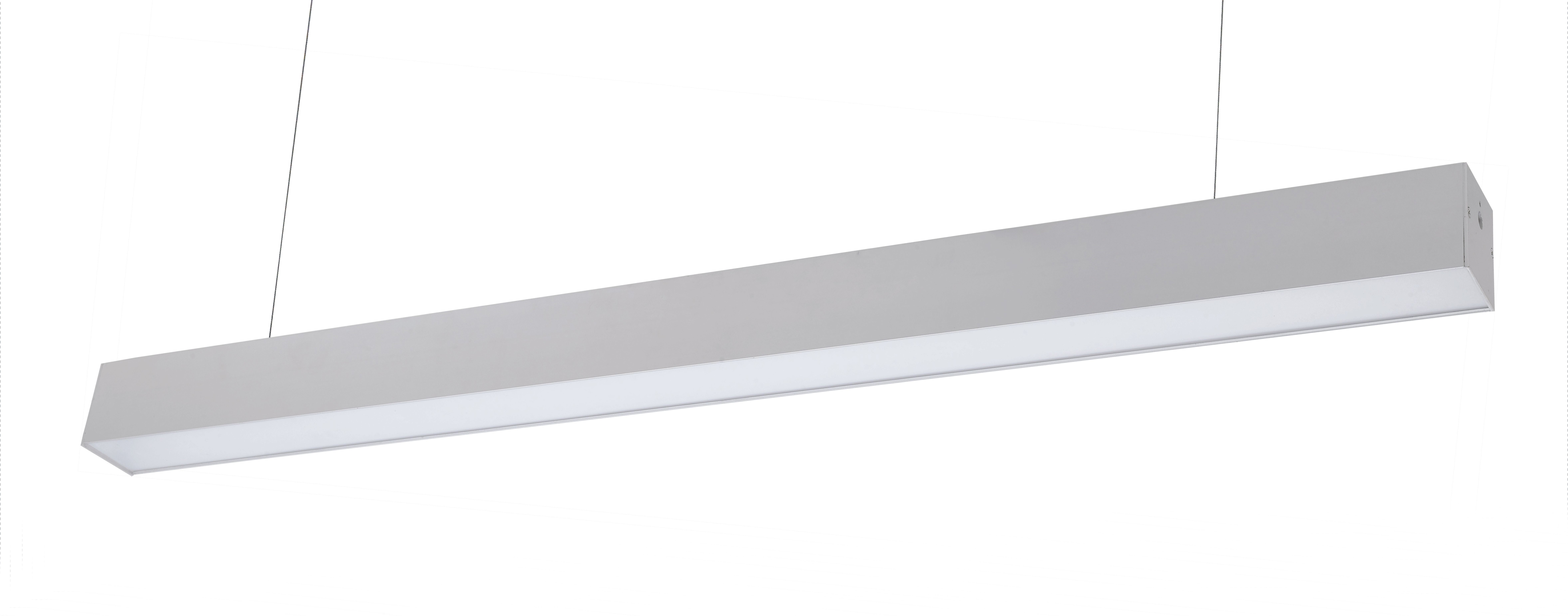 4 Foot Led Direct Indirect Suspended Linear Fixture 40 Watt Linear Lighting Perimeter Lighting Fixtures