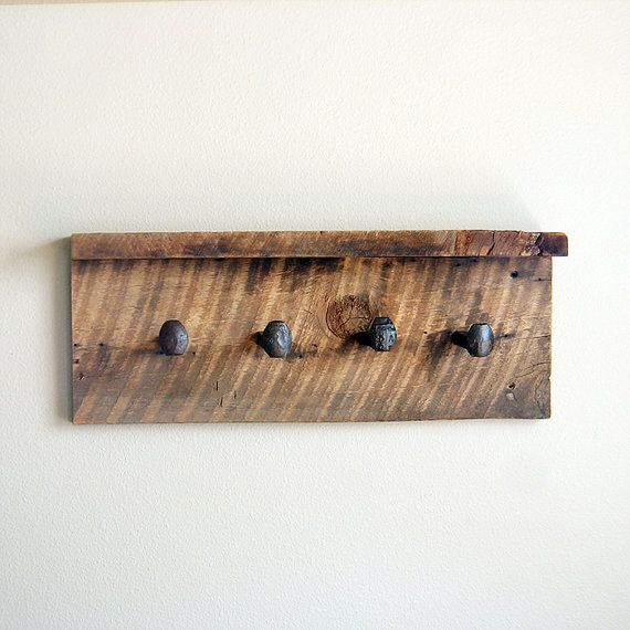 Reclaimed Wood Shelf With Coat Hooks Rustic Shelf Barn Wood Coat Enchanting Wooden Coat Hook Rack