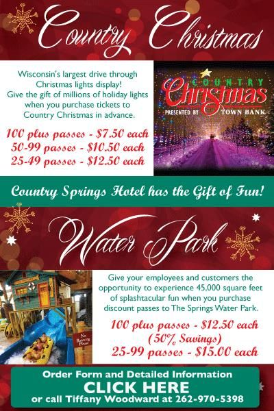 country christmas wisconsins largest drive through light event is back at country springs see the poster below for details - Country Springs Christmas Lights