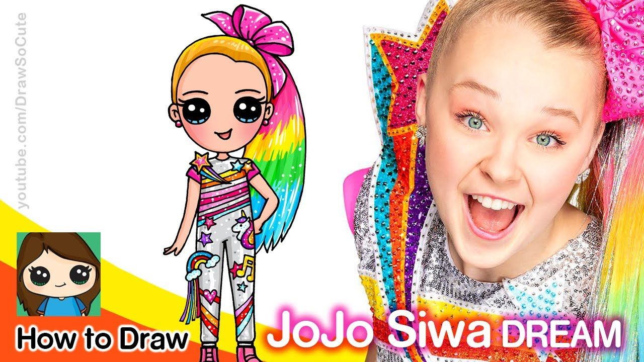 How To Draw Jojo Siwa Dream With Images Cute Drawings