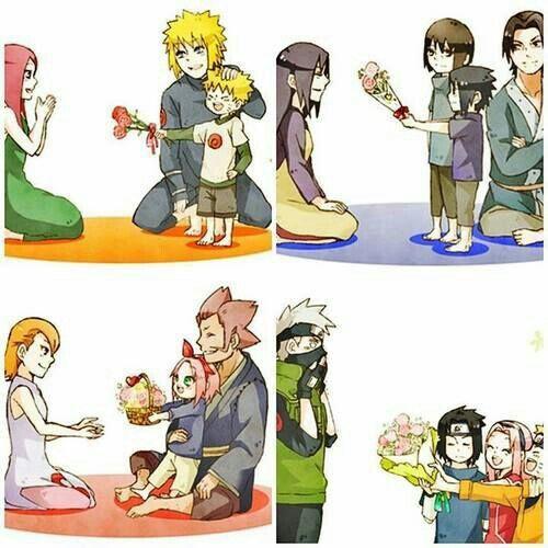 Haruno Family, Kizashi, Mebuki, Sakura, Uzumaki Family