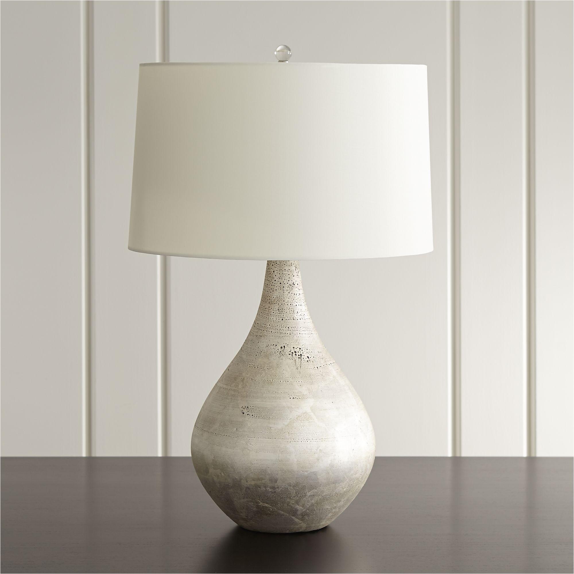 Mulino Teardrop Table Lamp + Reviews Crate and Barrel