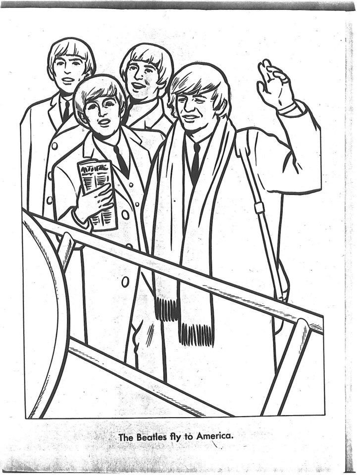 The Beatles Coloring Page 02 | Let it be Beatles crafts | Pinterest ...