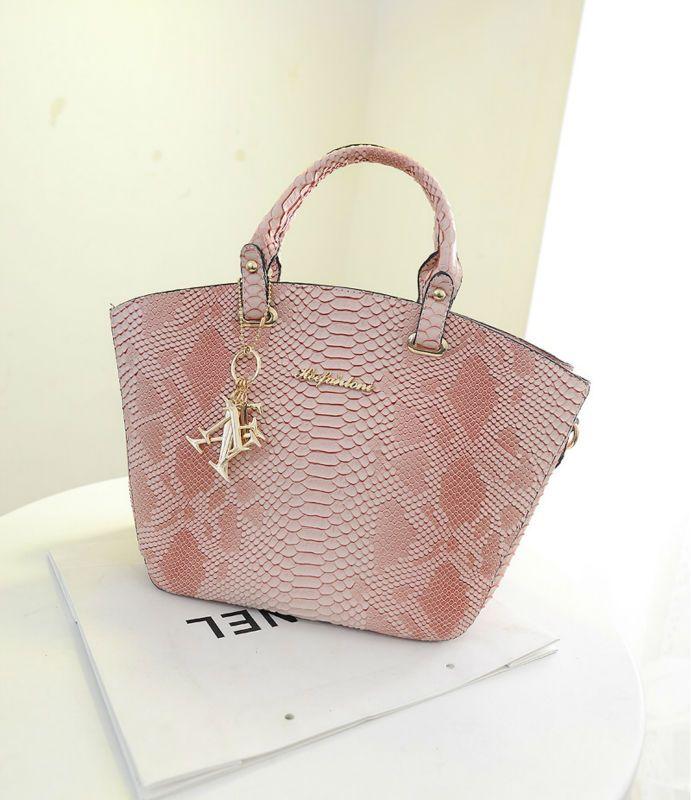 Fashion Handbag Women Handbag Sanke Skin Bag Cheap Handbag