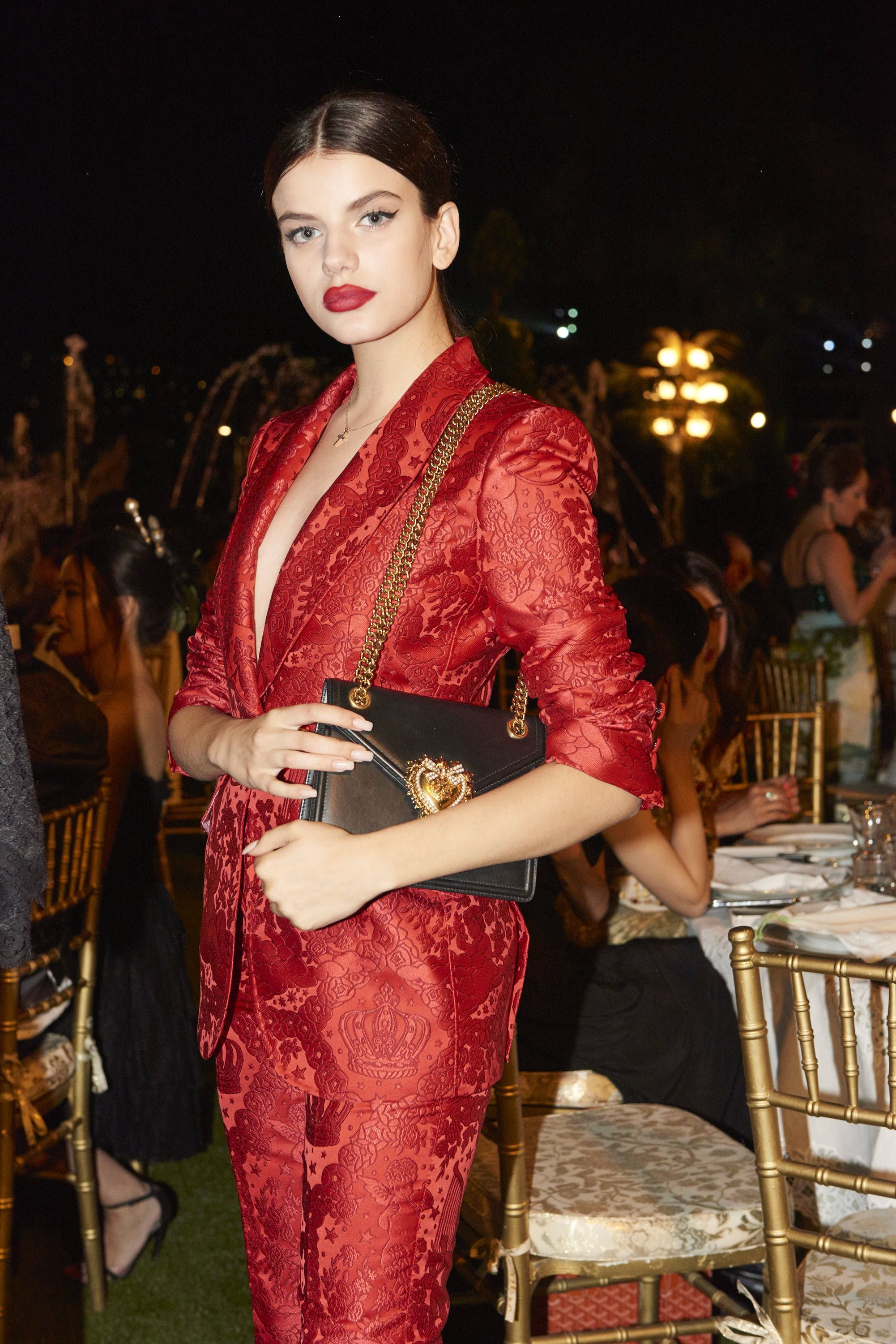 e0d2bd3494 Sonia Ben Ammar and her Devotion Bag at the Dolce Gabbana Alta Moda dinner  in Como.  DGDevotionBag  DGWomen  DGCelebs
